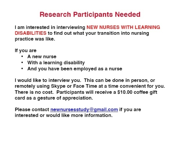 Interview Study with New Nurses with Learning Disabilities